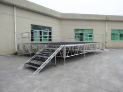 Rk Portable Aluminum adjustable Stage for Outdoor Events