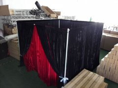 Flexible photo booth with pipe and drape frame wholesale