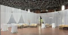 2015 pipe and drape for large banquet halls with fabric drape