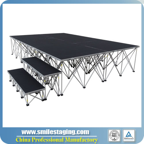 12ft x 8ft Portable Stage Systems With Stair/Carpet Finish