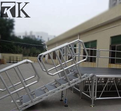 Aluminum stage step ladders with stage truss on sale