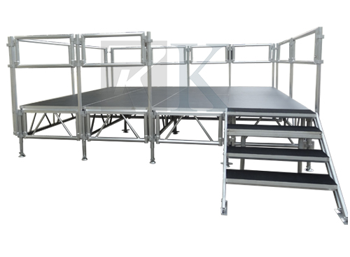 RK aluminum stage consist of aluminum frame and platform